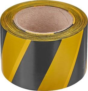 Лента разметочная, самоклеющаяся (черно-желтая) 50мм х 25м