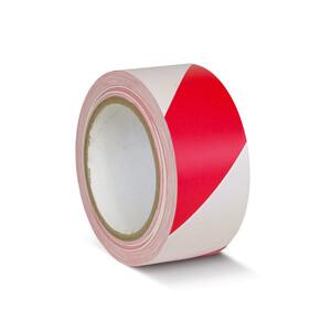 Лента разметочная, самоклеющаяся (красно-белая) 50мм х 25м