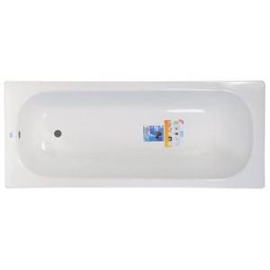 """Ванна стальная 1,5м*0,7м*0,4м (ВИЗ) Антика """"Белая Орхидея"""" цв.белый (ОР-01200)"""