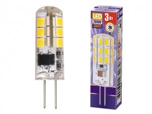 Лампа светодиодная PLED-G4 3Вт 2700K 200Лм 220В/50Гц JazzWay 4690601032041