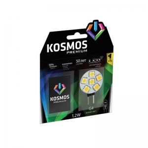 Лампа светодиод. KOSMOS premium LED 1.2Вт JCR G4 12v 4500K Космос KLED1.2wJCRG412v4500