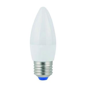 Лампа светодиод. LED C37 Е27 7Вт 600Лм 4000К холодный свет свеча REV 32348 8