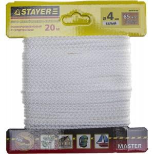 """Шнур STAYER """"MASTER"""" хозяйственно-бытовой, полипропиленовый, вязанный, c сердечником, черный, d 5,"""
