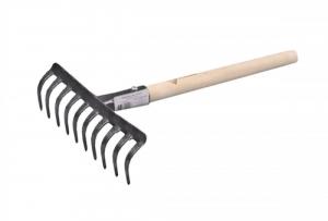 Грабли ЗУБР садовые с черенком, 10 прямых зубцов