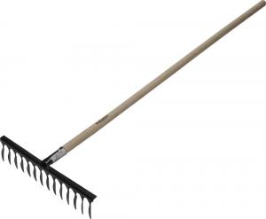 Грабли ЗУБР садовые с черенком, 12 прямых зубцов