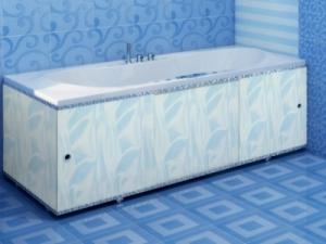 """Экран для ванны 1,5 м. """"Премиум А"""" (алюм.профиль) 1,5 голубой"""