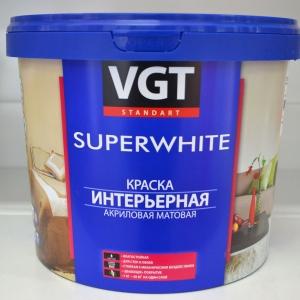 Краска ВД-АК 2180 супербелая интерьерная для внутренних работ 1,5 кг