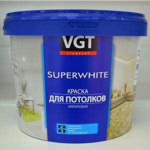 Краска ВД-АК 2180 супербелая потолочная 3 кг