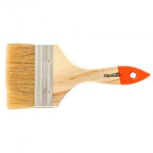 """Кисть плоская Slimline 4"""" (100 мм), натуральная щетина, деревянная ручка// SPARTA"""