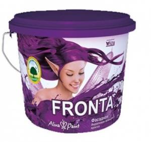 Краска водоэмульсионная, Alina Paint FRONTA, 3 кг (фасадная, интерьерная, моющаяся)