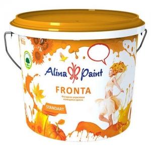 Краска водоэмульсионная, Alina Paint FRONTA, 7кг (фасадная, интерьерная, моющаяся)