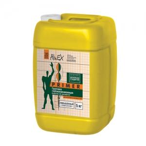 Грунтовка AlinEX PRIMER, 5 кг ( для стен и потолков, полимерная)