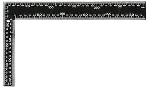 Угольник столярный цельно-металлический, крашеная шкала 200*300 мм
