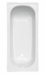 """Ванна стальная 1,7*0,7*0,4 (ВИЗ) антика """"Белая Орхидея"""" цв. белый (ОР-01200)"""