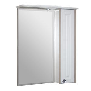 """Шкаф навесной """"Версаль-62"""" белое дерево с зеркалом  правый"""