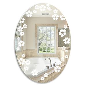 """Зеркало Mixline """"Незабудки"""" овал 570*770 мм пескоструйный рисунок"""