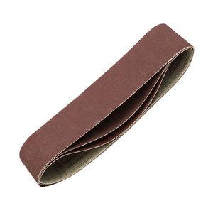 Лента шлифовальная универсальная STAYER бесконечная на тканевой основе, для ЛШМ, P100, 75х533мм, 3шт