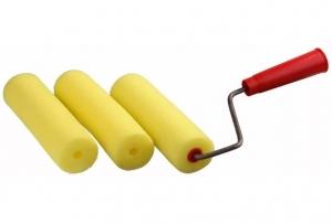 Валик малярный, желтый, 230мм х 10мм х 55мм + 2 сменных ролика