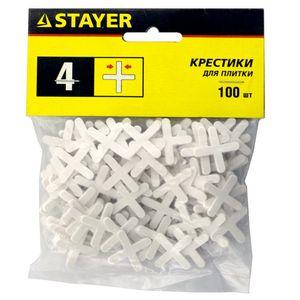 Крестики STAYER для кафеля, 4мм, 100шт