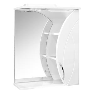 """Шкаф навесной """"Магнолия-61"""" белый правый с подсветкой  (ПВХ)"""
