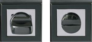 Завертка Квад  черный никель LS-AL BK квад BN