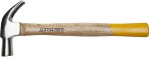 Молоток-гвоздодер STAYER  столярный 225г с деревянной рукояткой