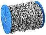 Цепь длиннозвенная - 8мм, оцинкованная сталь, DIN763 дл=18м, Зубр Профессионал