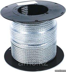 трос стальной оцинкованный DIN 3055  в оплетке пвх,д=3/4мм дл=200м, Зубр Профессионал
