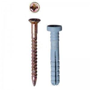 Дюбель-гвоздь ЗУБР полипропиленовый, потайной бортик, 8 х 60мм, ТФ0, 1050шт