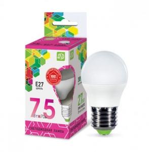 Лампа светодиод. LED Шар standard 7,5Вт Е27  230B 6500К 675Лм 4690612019154