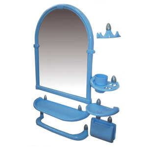 Набор д/ван ком с зерк олимпия(6пред) голубой