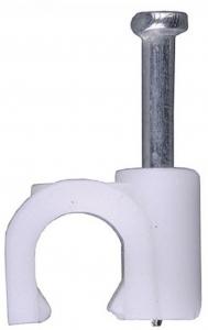 Скоба STAYER круглая с оцинкованным гвоздём, для крепления кабеля 5мм, 100шт