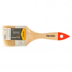 """Кисть плоская Slimline 2,5"""" (63 мм), натуральная щетина, деревянная ручка// SPARTA"""