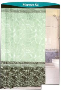 штора для ванной 100% полиэстер эконом 170*200 (зеленый фон)