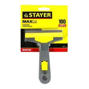 """Скребок STAYER """"MASTER"""" универсальный, пластмассовый корпус, 100мм"""