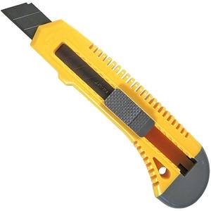 Нож с выдвижным сегмент. лезвием, пластмассовый, 18мм