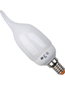 Лампа энергосбер. свеча КЭЛ-CВ Е14 9Вт 4000К ПРОМОПАК (уп.6шт) ИЭК LLE61-14-009-4000-S6