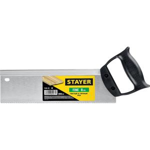 Ножовка для стусла с обушком(пила) STAYER 300мм, 8ТР, прямой закаленный зуб, точный рез