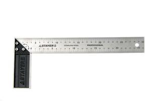 """Угольник STAYER """"PROFI"""" столярный, гравированная шкала, нержавеющее полотно 37мм, 350мм"""